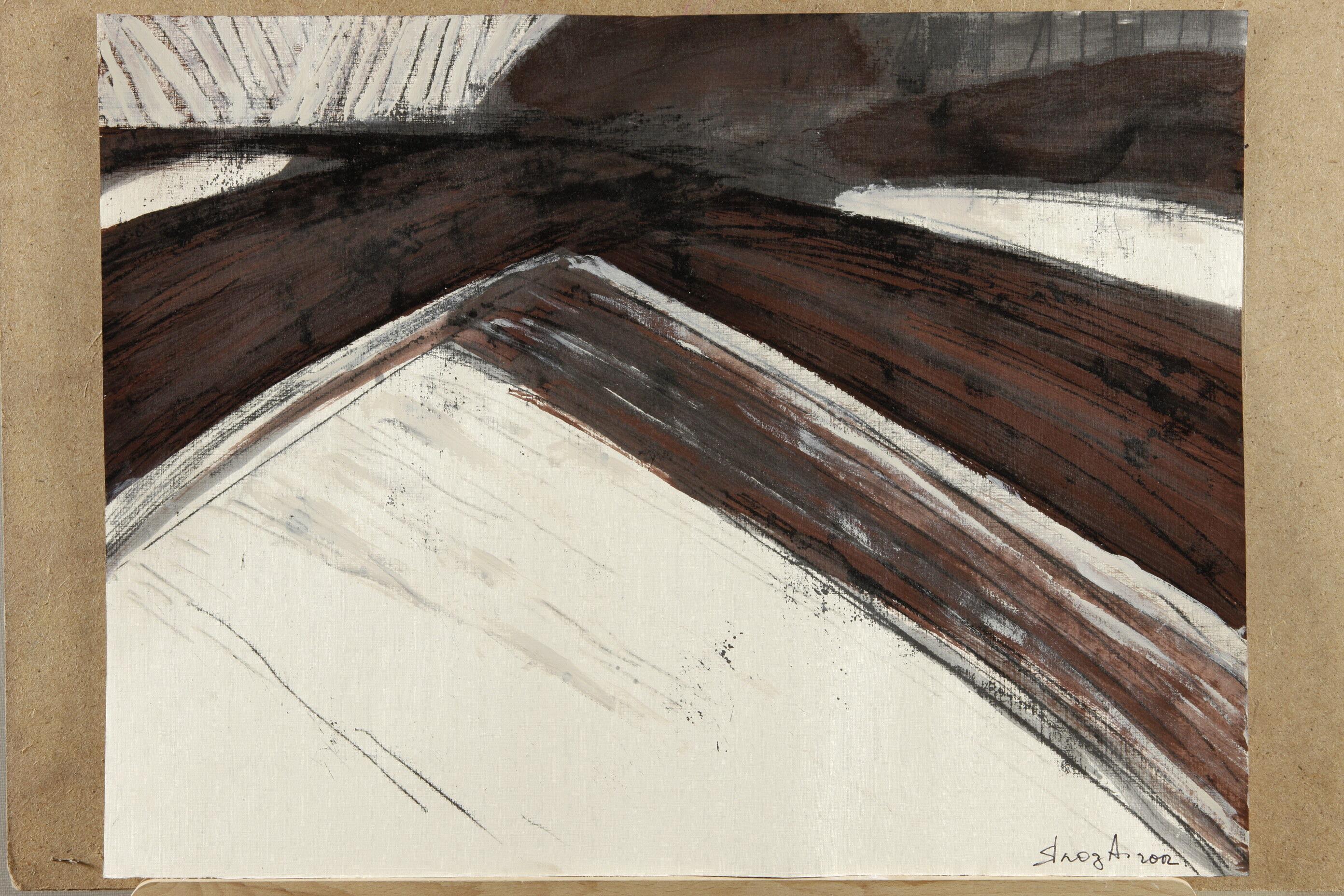 Альбіна Ялоза<br> Із серії Втрачений Рай<br> 2012, папір, акрил, монотипія
