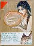 Дмитро Кузовкін, Вона тримає в своїх руках Світове яйце, 2008, папір, мішана техніка, 35х26