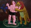 Напад лева, 2014, полотно, олія