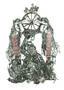 Колесо історії 1, із серії Мазепіана, 2005, папір, туш, 70х50