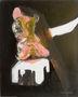 Мої ноги, 2008, папір, олія, акрил, 100х80