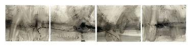 Горизонталь №1, 2008, папір, мішана техніка, 38х186
