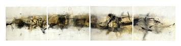 Горизонталь №2, 2008, папір, мішана техніка, 38х186