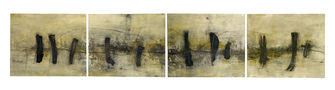 Горизонталь №3, 2008, папір, мішана техніка, 38х186