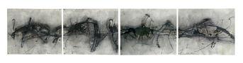 Горизонталь №4, 2008, папір, мішана техніка, 38х186