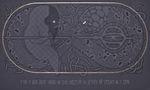 Андрій Хір, У нас є один такий чоловік що знає навернути на другого тоті черваки шо в землі, 2014, полотно, акрил, вишивка, 120х200