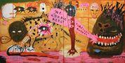 Олександр Король, Пульс Африки, 2014, холст, акрил, папір, масляна пастель, маркер