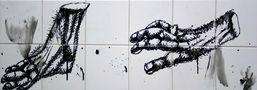 Я кінцівки, 2010, полотно, акрил, 30х90