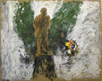 Ленін, 2009, картон, олія, 80х100