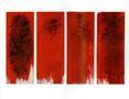 Володимир Будніков, Червоне, 2005, полотно, олія, 180х70, поліптих