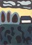 Умань. Вечір, Квіти, 49х35, картон, олія, 1964