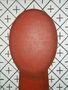 Червона голова на орнаментальному тлі, 2014, полотно, олія, акрил