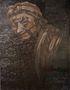 Портрет старої бабці, 2013, килимок, олія