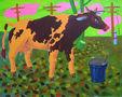 Корова Пеструха, 2012, полотно, олія, 89х111