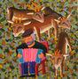 Олені слухають сумну мелодію, 2013, полотно, олія, 90х87