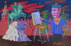 Постмодерніст Влад на етюдах, 2012, полотно, олія, 83х134