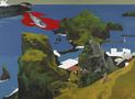 Ланцюжком островів, 2012, полотно, акрил, 150х110