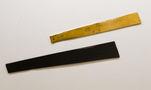 Із серії Золото Карпат, 2012, дошка, акрил, золота поталь, диптих, 219х32, 181х23
