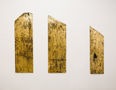 Із серії Золото Карпат, 2012, дошка, акрил, золота поталь, триптих, 133х40, 128х40, 105х30