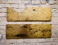 Із серії Золото Карпат, 2012, дошка, акрил, золота поталь, диптих, 25х64 кожна