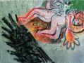Конвалії, 2011, полотно, акрил, спрей, 145х200