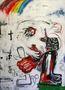 Людина у тумані, 2011, полотно, акрил, спрей, 180х130