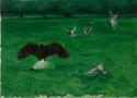 Скульптура не лякає птахів, 2011, полотно, олія, 25х35