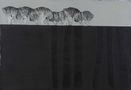 Із серії Втрачений Рай, 2012, полотно, акрил, ліногравюра, 95x140