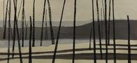 Із серії Втрачений Рай, 2012, полотно, акрил, ліногравюра, 90х200
