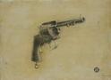 Володимир Костирко, Пістоль, 2009, дошка, акрил, олівець, 29х40
