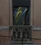 Вікно, закрите чорним целофаном, 2011, полотно, олія