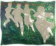 Веселий весняний танок біля калюжі, 2011, килимок, олія, 152х191