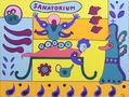 Масаж, із циклу Sanatorium, 2011, полотно, акрил, 100х130