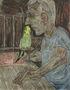 З папугою потрібно розмовляти, 2011, полотно, олія, 120х90