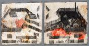 Paradiso Perduto Piccolo №3, 2012 - 2014, drawing, multiple intaglio, acrylic, paper