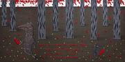 Вночі я ходив по вовчі ягоди, щоб була приправа до твоєї страви із трави-отрави, 2011, полотно, акрил, 120х60