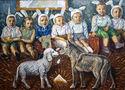 Ростислав Котерлін, Вовчання ягняти, 1997, полотно, олія