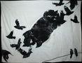 Із серії Птахи, 2010, постільна білизна, високий друк